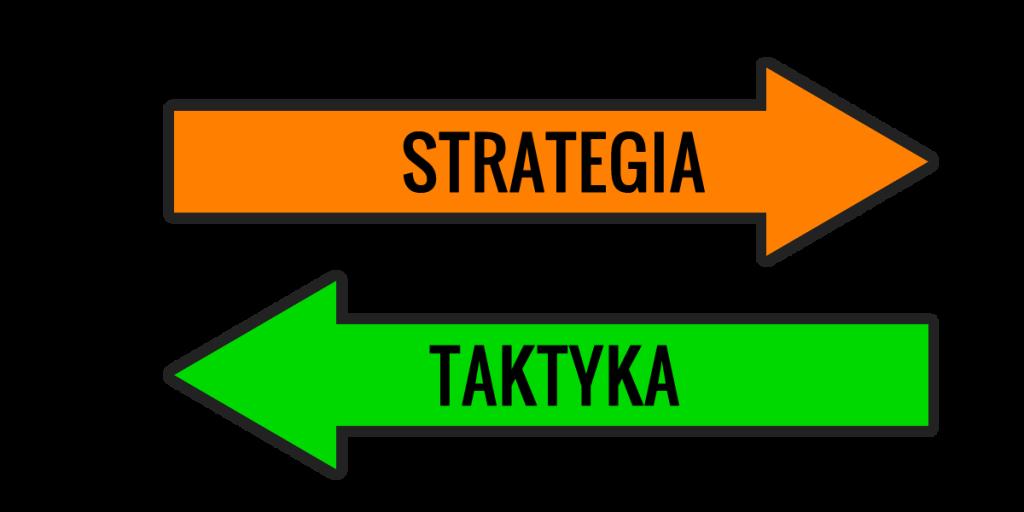 Różnica między strategią a taktyką