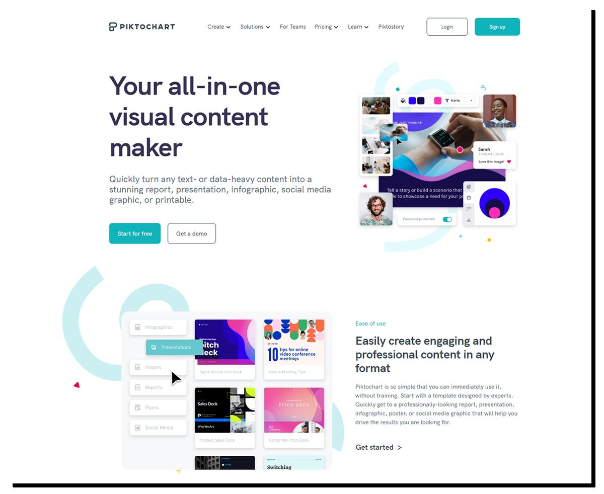 Piktochart - grafika na stronę WWW w dobrym wydaniu