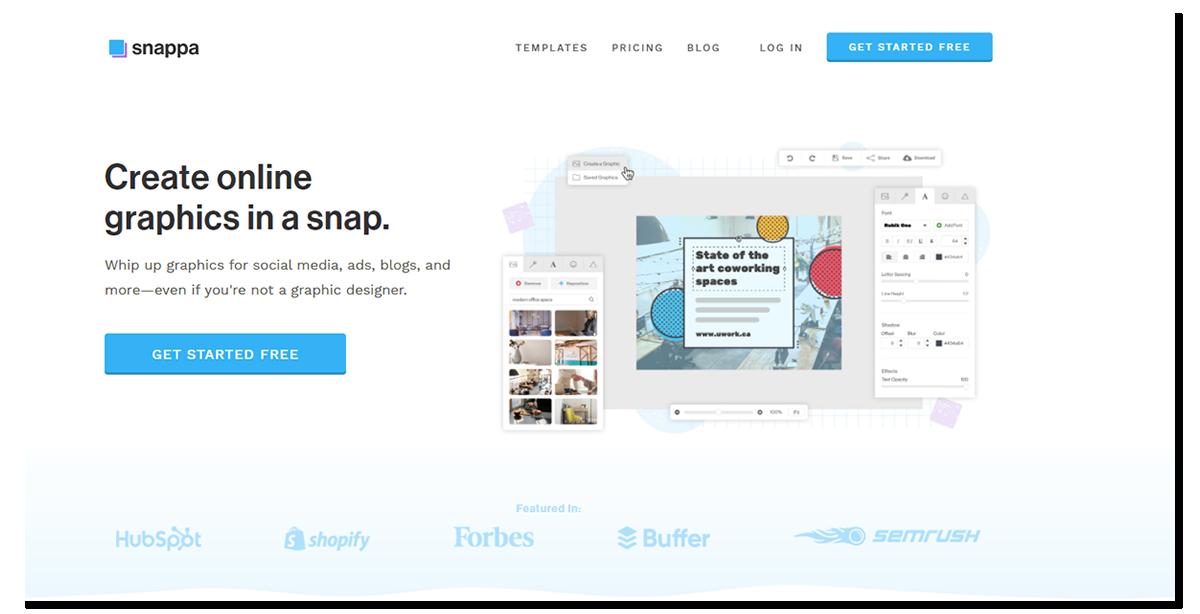 Snaappa - grafika dla WWW online