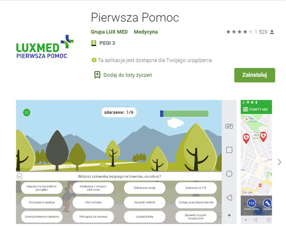 Pierwsza Pomoc - aplikacja od LUXMED
